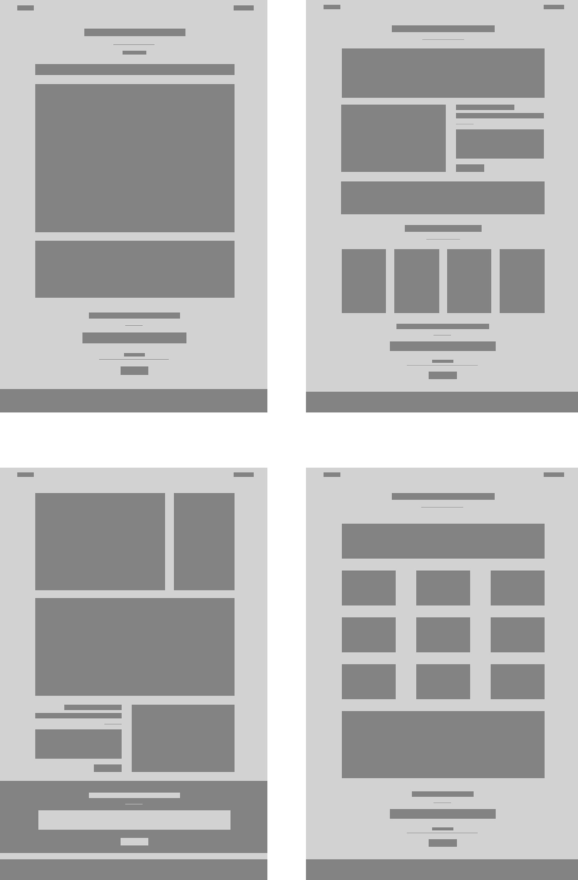 Website design Page layout